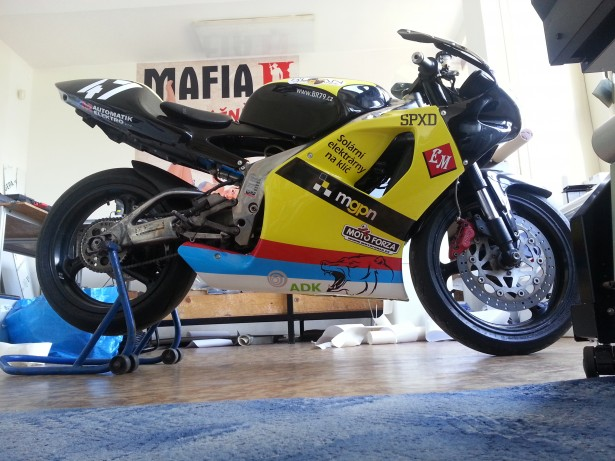 Road racing Radek Lamich Aprilia RS125 team Brainracing.eu