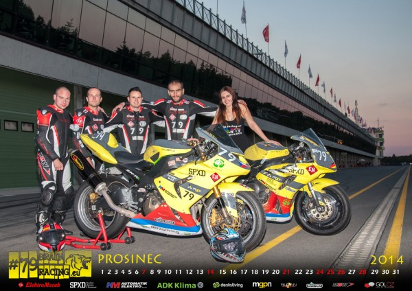 Kalendar Brain racing 2014 - Endurance a Roar racing team PROSINEC